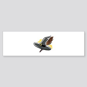 Brooms & Witches hat Bumper Sticker