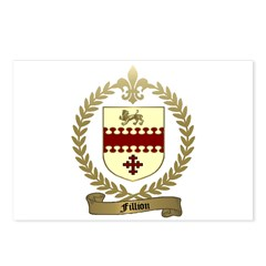 FILLION Family Crest Postcards (Package of 8)