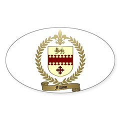 FILLION Family Crest Oval Decal
