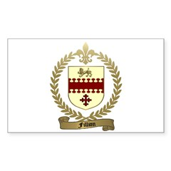 FILLION Family Crest Rectangle Decal