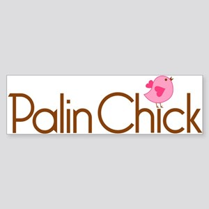 Palin Chick Brown Bumper Sticker