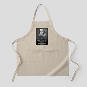 William Shakespeare Quote BBQ Apron