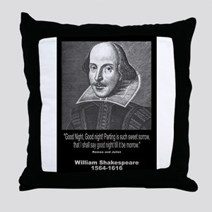 William Shakespeare Quote Throw Pillow