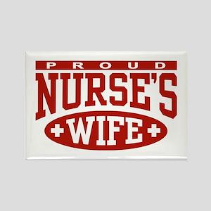 Proud Nurse's Wife Rectangle Magnet