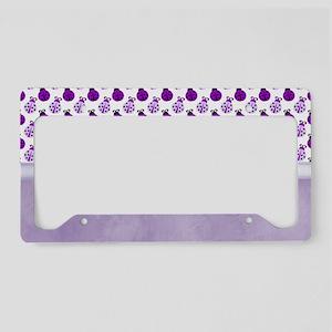 Purple Ladybugs License Plate Holder