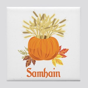Samhain Pumpkin Tile Coaster