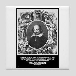 William Shakespeare Quote Tile Coaster
