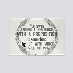 From now on, ending a sentence with a prep Magnets