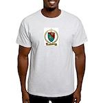 FAUCHER Family Crest Ash Grey T-Shirt