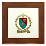 FAUCHER Family Crest Framed Tile
