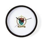 FAUCHER Family Crest Wall Clock