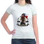 Under The Lone Star Logo Womens Ringer T-Shirt