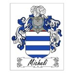 Micheli Family Crest Small Poster