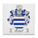 Micheli Family Crest Tile Coaster