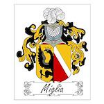 Miglia Family Crest Small Poster