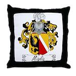 Miglia Family Crest Throw Pillow