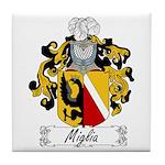Miglia Family Crest Tile Coaster