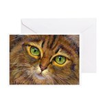 202 - Emerald Eyes Greeting Cards