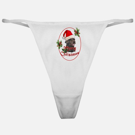 Labradoodle Christmas Classic Thong