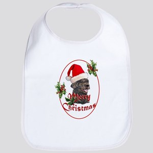 Labradoodle Christmas Bib