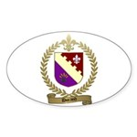 DURAND Family Crest Oval Sticker