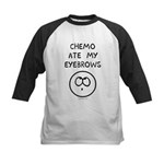 Chemo Ate My Eyebrows Kids Baseball Jersey