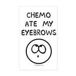 Chemo Ate My Eyebrows Rectangle Sticker
