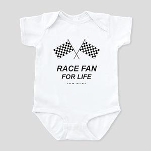 Checker Flag Race Life Infant Bodysuit