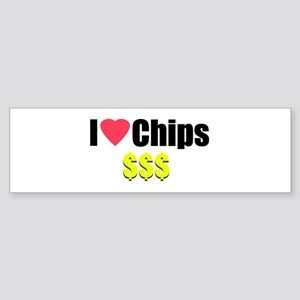 I Love Chips Bumper Sticker