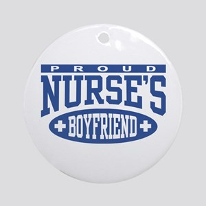 Proud Nurse's Boyfriend Ornament (Round)