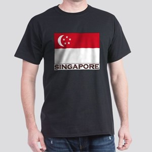 Flag of Singapore Ash Grey T-Shirt