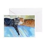 211 - Cats Whisk & Sherlock Greeting Cards