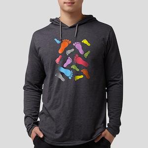 Barefoot Barefeet Colorful Long Sleeve T-Shirt
