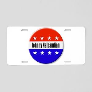 Johnny Nalbandian Aluminum License Plate