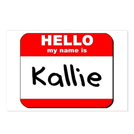 Hello my name is Kallie Postcards (Package of 8)