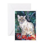213 - Cat Lucky Blue Greeting Cards
