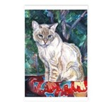 213 - Cat Lucky Blue Postcards (package Of 8)