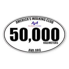50,000 Kilometers Walked Sticker