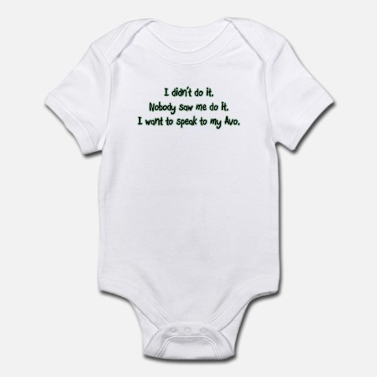 Want to Speak to Avo Infant Bodysuit