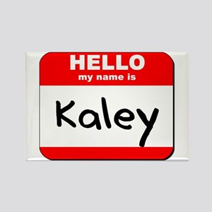 Hello my name is Kaley Rectangle Magnet