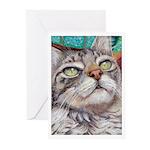 216 - Cat Veludo Greeting Cards