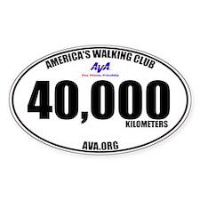 40,000 Kilometers Walked Sticker