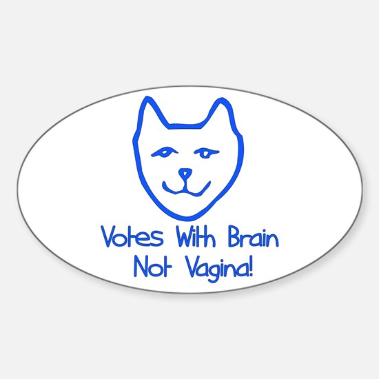 Anti-Palin Voter Oval Decal