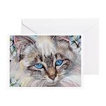 220 - Cat Sabrina Greeting Cards