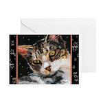 231 - Cat Celeste Greeting Cards