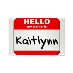 Hello my name is Kaitlynn Rectangle Magnet (10 pac