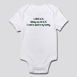 Want to Speak to Gammy Infant Bodysuit