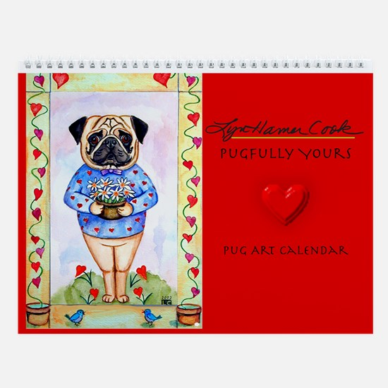 Pug Pugfully Yours, Dog Wall Calendar