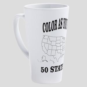 color as you go 50 states help 17 oz Latte Mug