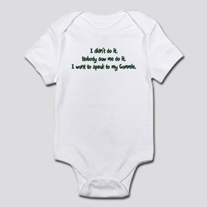 Want to Speak to Gammie Infant Bodysuit